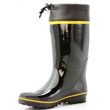 men's sweat-absorbent lining rubber boots with cover