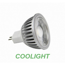 6W MR16 SMD led spot light with COB lens silver housing