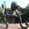 Escultura de bronze para polvo