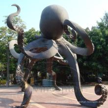 Sculpture en bronze pour poulpe