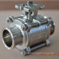 Manul iso standard food grade ball clamped valve