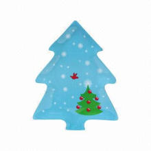 Tree Design Plates with Print, Available in Various Colors, Designs and Sizes, Made of Melamine