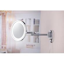 Одностороннее светодиодное настенное увеличительное зеркало с подсветкой