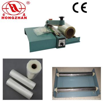 Sellado de la máquina con cuchilla y rodillo película plataforma para embalaje bolsas de sello de mano y corte