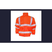 Flu Orange Hi-Vis Safety Bomber Coat