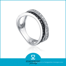 Элегантное серебряное кольцо для подарков Производитель (SH-R0077)