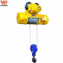 0.25 ton ac electric traveling fast speed wire rope hoist crane fixed type