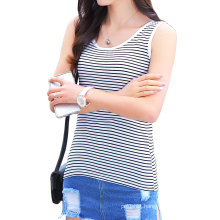 Women′s Cheap Custom Striped T Shirt Wholesale