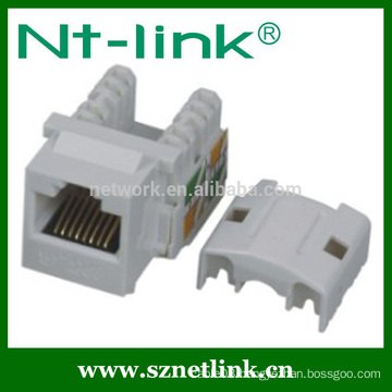 Popular used 90 degree RJ45 utp Cat.6 Keystone Jack