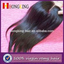 Fechamento frontal do laço da parte superior do cabelo do Mongolian do Virgin