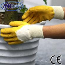 Luva de látex NMSAFETY fabricante luvas de trabalho produtor luvas de algodão en388