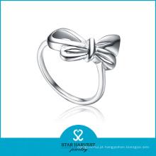 Luxo flor 925 anel de prata esterlina para a senhora (r-0130)