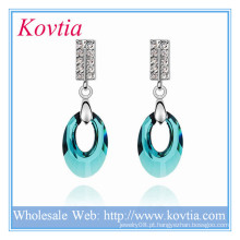 Top design austríaco casamento brincos de cristal para senhoras jóias boêmio