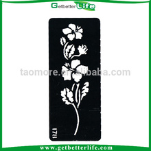 Getbetterlife Temporary Glitter Tattoo Flower Drawing Stencil (13*6cm)