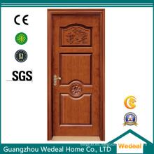 Puerta laminada PVC modificada para requisitos particulares de madera del MDF para los hoteles / chalet