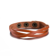 Wholesale Foreign Trade Sale Vitage Made of Cowhide Bronze Plated Bracelet Simple Design Jewelry