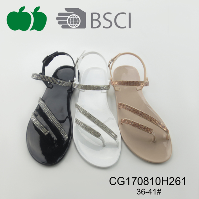 Ladies Good Quality Fashion Pvc Sandals