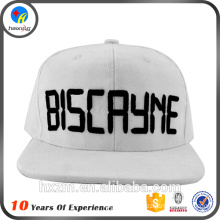 Flat Brim Snap Back 3D Embroidery Cap