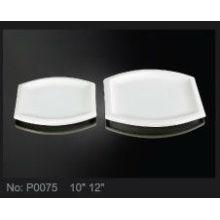 P0117-Hotel und Restaurant runden Teller Keramik Platte mit Muster