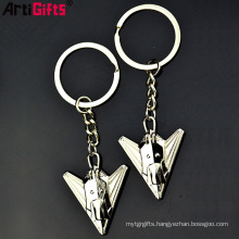No Minumum Custom Hot Selling High Quality 3D Car Metal Airplane Keychain Maker