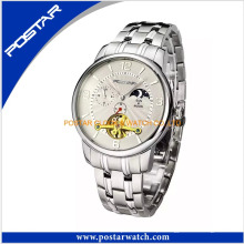Qualidade Superior Relógio Cronógrafo Personalizado com Banda de Aço Inoxidável