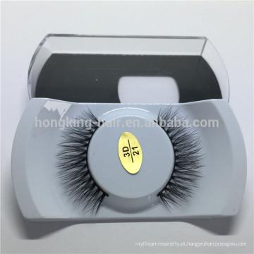 Cílios de seda premium por atacado com embalagem de cílios personalizados