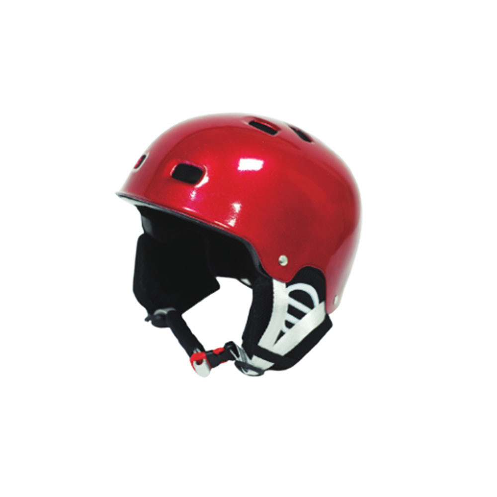 Red Ski Helmet