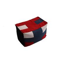 Светлый мешок фасоли Оттоманка с многоцветной тканью