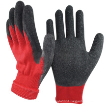 NMSAFETY 10 gauge nappy acrylic winter use latex safety gloves