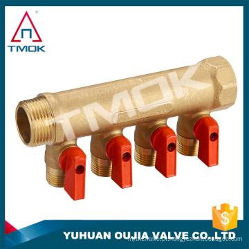 fabricação na China Mainfold para quatro vias motorizadas e forjadas CW617n material e alta qualidade