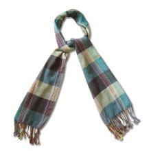 Женская мода 100% шерсть вязать шарф в клетку (YKY4047)