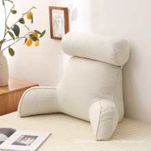 Amazon hot-sale lazy comfortable linen pearl cotton reading cushion pillow for bed