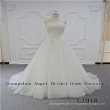 Vestido sin tirantes con vestido de novia de alta calidad