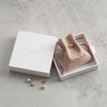 Customized White Jewelry Box With Gold Logo