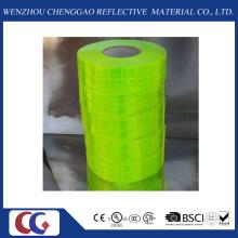 Ruban réfléchissant en PVC vert pur avec treillis en cristal