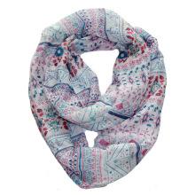 Mädchen Mode Erdbeere gedruckt Polyester Voile Infinity Schal (YKY1115)
