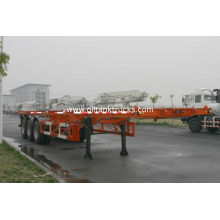 40ft Skeletal Three Axles Steel Shipping Container Trailer Chassis Iso9001 Ccc