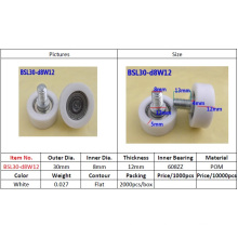 Bsl30-D8w12 Plastic Coated Pulley Ball Bearing 608zz for Window and Cashier