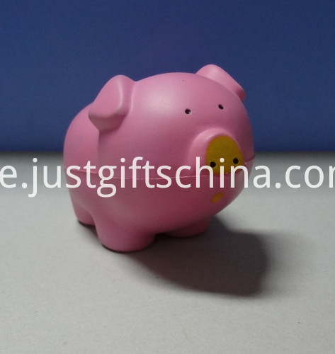 Printed PU Pig Stress Reliever Ball - Pink