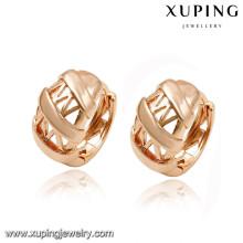 92688 xuping 18k plaqué or bijoux femme fantaisie boucle d'oreille pour les cadeaux de noël