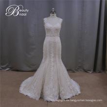 Hermoso vestido de novia hecho a mano Champagne Color