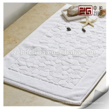 Different Jacquard Patterns Available Cotton White Custom Floor Mat