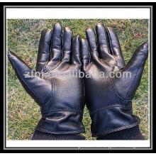 Invierno guantes de cuero hombres