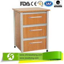 Cabinet en aluminium d'alliage et de chevet de conseil stratifié