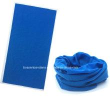 OEM Produce logotipo personalizado impresso azul Microfiber Multifuncional Magic Sprots Headwear Tubular Buff