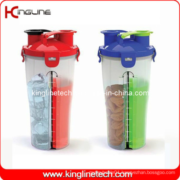 Hydra Cup 700ml Plastic Dual Shaker Bottle BPA Free (KL-7015)