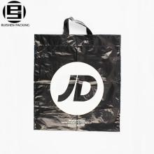 White plastic shopping bag flat button bag printing cartoon figures gift bag