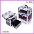 Superior acrílico profesional de almacenamiento de uñas caja de cebra esmalte de polaco llevar caso (saccom092)