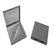 Square Shaped Silver Metal Pill Box (BOX-06)