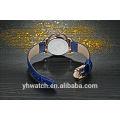Montres-bracelet en cuir unisexes imperméables de dame pour l'acier inoxydable